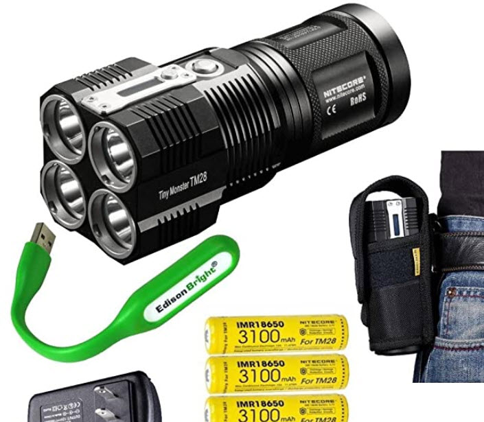EdisonBright NITECORE TM28 Tactical Flashlight